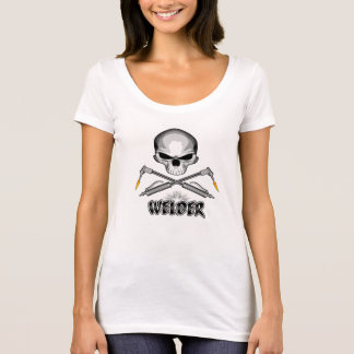 Skull Welder and Crossed Torches T-Shirt