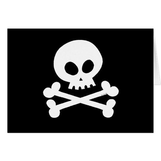 Skull (white) card