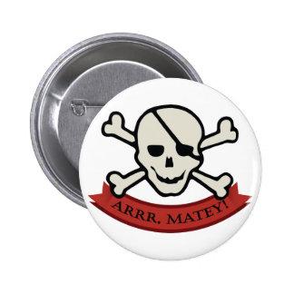 Skull - White Standard, 2¼ Inch Round Button