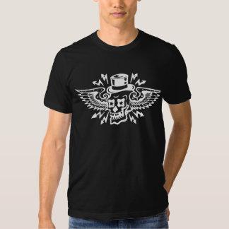 Skull wings tee shirt