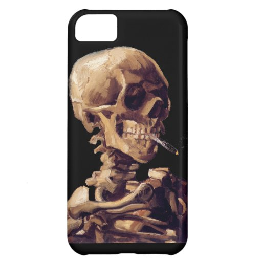 Skull with a burning cigarette by Van Gogh Cover For iPhone 5C