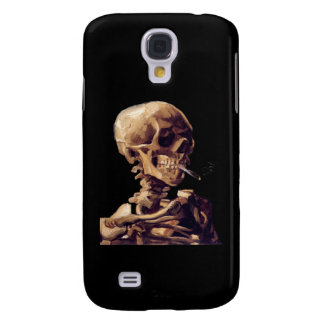 Skull with a burning cigarette by Van Gogh Samsung Galaxy S4 Cover