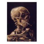 Skull with a Burning Cigarette - Vincent Van Gogh Post Card