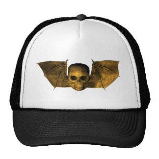 Skull With Bat Wings Cap