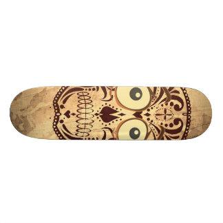 skull with big eyes 21.6 cm skateboard deck