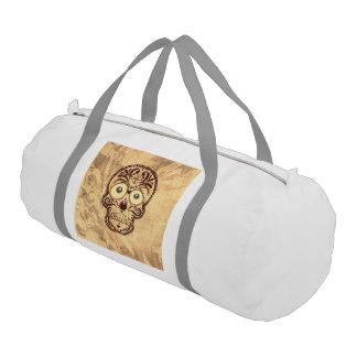 skull with big eyes gym duffel bag
