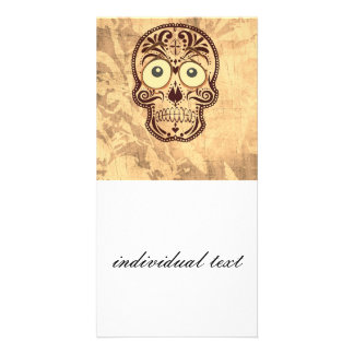 skull with big eyes picture card