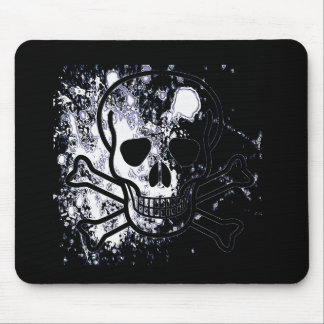Skull with blood drops (B&W) Mouse Mat