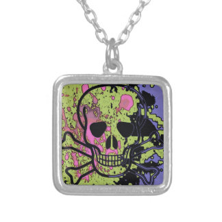 Skull with blood drops necklaces