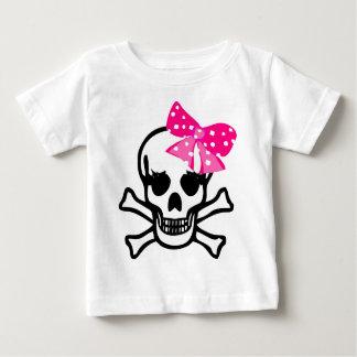 Skull with bow girl.jpg t-shirt