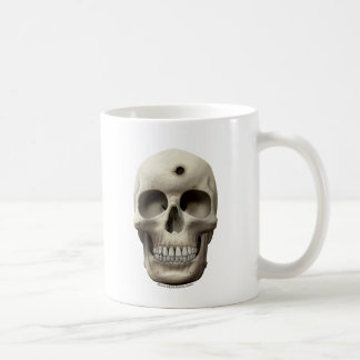 Skull with Bullet Hole Mugs