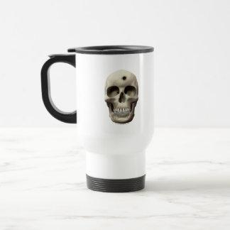 Skull with Bullet Hole Stainless Steel Travel Mug