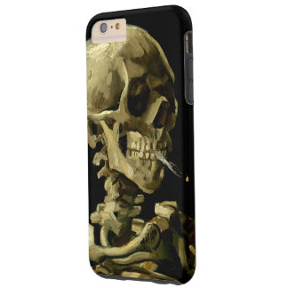 Skull with Burning Cigarette by Van Gogh Tough iPhone 6 Plus Case