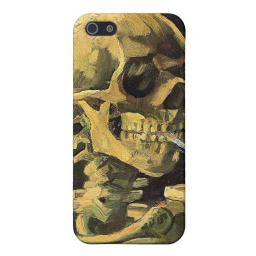 Skull with Burning Cigarette by Vincent van Gogh iPhone 5 Cover