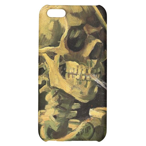 Skull with Burning Cigarette by Vincent van Gogh iPhone 5C Cases