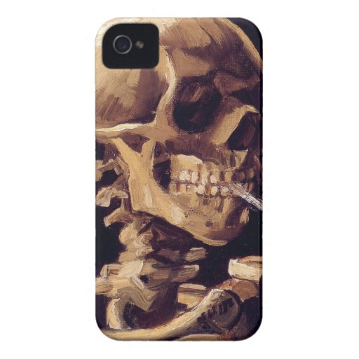 Skull with burning cigarette Painting Van Gogh Case-Mate iPhone 4 Case