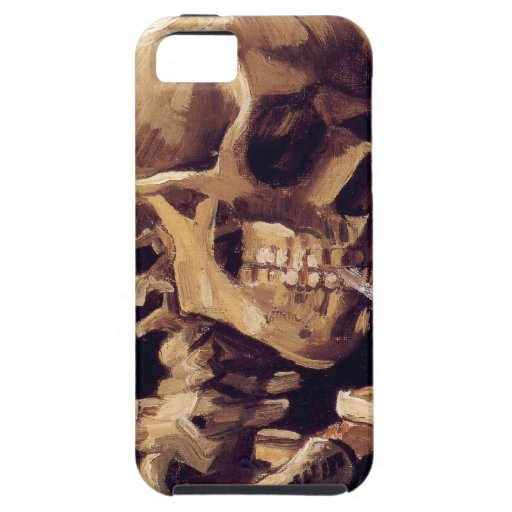 Skull with burning cigarette Painting Van Gogh iPhone 5 Covers