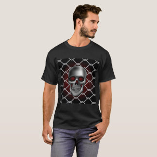 Skull with Chain Link Fence T-Shirt