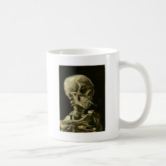 Skull with Cigarette by Van Gogh Classic White Coffee Mug