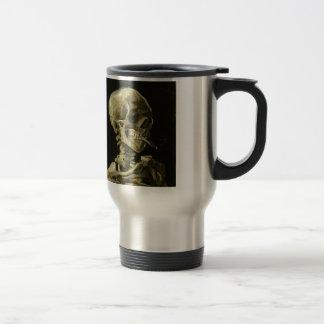 Skull with Cigarette by Van Gogh Stainless Steel Travel Mug