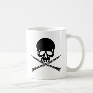 Skull with Clarinets and Crossbones Coffee Mug