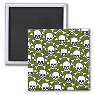 skull with crossbones design refrigerator magnets