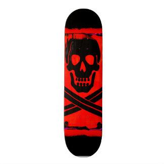 Skull with Crossed Swords Creepy Artwork 18.1 Cm Old School Skateboard Deck