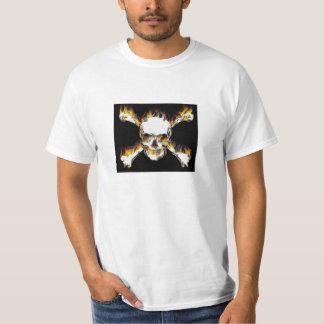 Skull With Flames Tee Shirts
