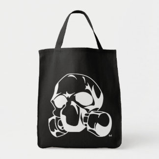 Skull with Gas Mask Tote Bag