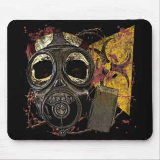 Skull With Gasmask Mouse Mat