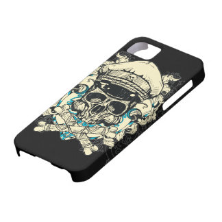 Skull with Hat and Crossbones iPhone 5 Covers