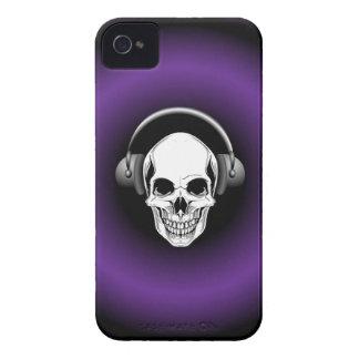 Skull with Headphones BlackBerry Bold iPhone 4 Case-Mate Case