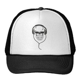 Skull with Headphones Mesh Hats