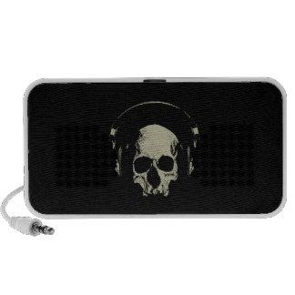 Skull with headphones - mini more loudspeaker