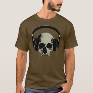 skull with headphones T-Shirt