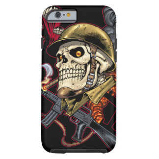 Skull with Helmet, Aeroplanes and Bombs Tough iPhone 6 Case