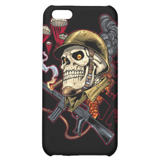 Skull with Helmet, Aeroplanes and Bombs Cover For iPhone 5C