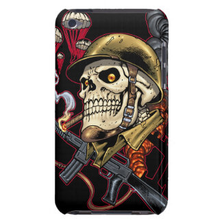 Skull with Helmet, Airplanes and Bombs Barely There iPod Cover