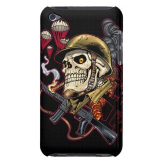 Skull with Helmet, Airplanes and Bombs Barely There iPod Covers