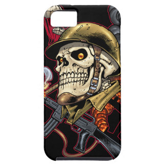 Skull with Helmet, Airplanes and Bombs iPhone 5 Cover