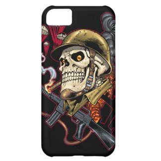 Skull with Helmet, Airplanes and Bombs iPhone 5C Case