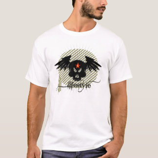 Skull with lifestyle designed by pinkapple team T-Shirt