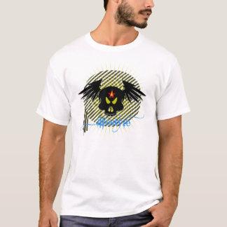 Skull with lifestyle in dark shirt