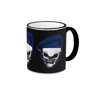 Skull with Military Beret Coffee Mug