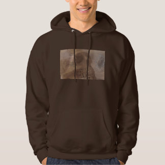 skull with moth men's hoodie