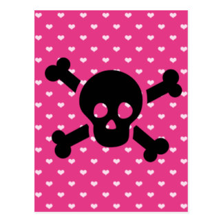 Skull with Pink Background Postcard