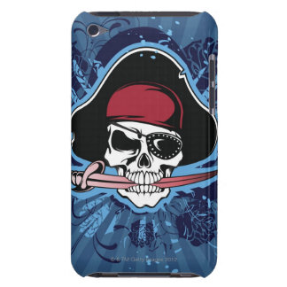Skull with pirate's hat, eyepatch and sword iPod touch cover