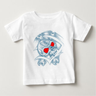 Skull With Red Eyes Baby T-Shirt