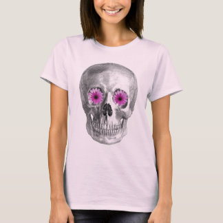 SKULL WITH RETRO DAISY EYES T-Shirt