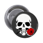 Skull with Rose Pin